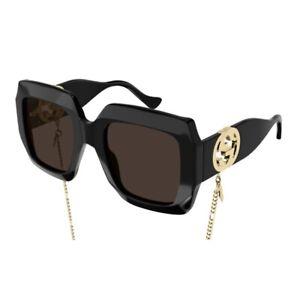 Occhiali da Sole Gucci GG1022S 005 54-23-140 Donna black lenti brown
