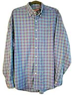 Vineyard Vines Shirt Men's XL Whale Blue and Purple Check Shep Ian XLARGE - EUC