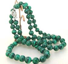 10mm grüner Malachitstein lange Halskette 35inch
