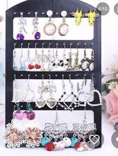 Black Earring Stand Storage Stud Long Drop Boho Boutique Fashion Uk 24 Pairs