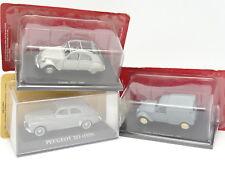 Ixo Presse 1/43 - Lot de 3 : Peugeot 203  - Citroen 2CV Fourgonnette et AZ
