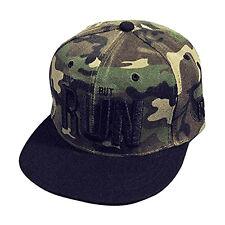 Sombrero Gorra De Béisbol Negro azul Hip Hop Rap Talla única