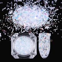1.7g Born Pretty Nail Powder Hexagon Sequins Stripe Paillette Flakes