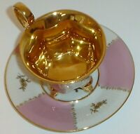Antique Dresden P.M.B. Meissen Courting Couple Demitasse Cup & Saucer (Germany)
