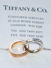 Tiffany & Co 1837 18 CT 18 ct Oro Rosa De Plata Pequeño Círculos Entrelazados