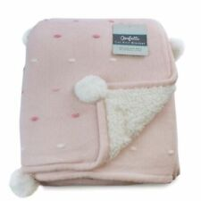 Bubba Blue Confetti Cot Knit Blanket Pink