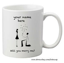 Coffee Mug Personalized love propose marriage custom name gift 11oz NEW!