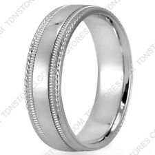 14K SOLID GOLD TWISTED MILGRAIN MENS WOMENS WEDDING BANDS RINGS LOW DOME RINGS