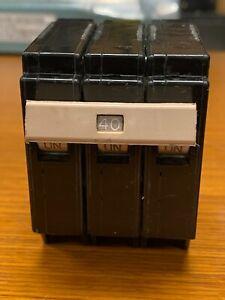 👀 CUTLER HAMMER 40 AMP CIRCUIT BREAKER 3 POLE 240 VAC CH340