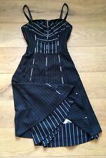 St-Martins Kleid Business Nadelstreifen schwarz * XS 32 34 * abnehmbare Träger