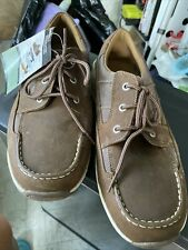 New Idunham Men's Captain Support Boat Shoe Style Water Size 9 D Brown Tan