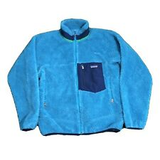 Mens Teal Blue PATAGONIA Deep Pile RETRO X Fleece Jacket Size S Soft Coat