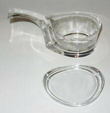 Colle, Italy Angelo Mangiarotti Mesco Sculptural Lidded Cheese Jam Server, 7""
