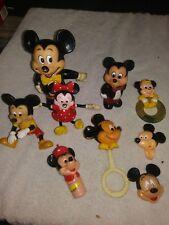 Vintage Walt Disney - Mickey Mouse & Minnie Mouse Figurines ~ Lot of 9