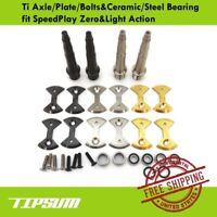 Tipsum Ti Axle/Plate/Bolts&Ceramic/Steel Bearing fit SpeedPlay Zero&Light Action