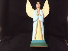 """12 1/2"""" tall primitive woodcarving of an angel,  hand made in Arrazola, Oax., Mx"""
