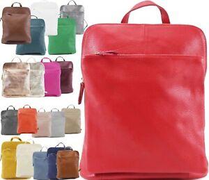NEW WOMENS LADIES DESIGNER 100% PREMIUM LEATHER BACKPACK SHOULDER BAG UK