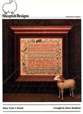 POSEY FOR A FRIEND-OOP SAMPLER-CROSS STITCH CHART-SHEEPISH DESIGNS