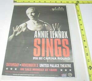 Annie Lennox Live Concert AD Advert 2007 Tour United Palace Theater New York NY