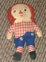 VINTAGE RAGGEDY ANDY ANN CLOTH DOLL TOY ANTIQUE 1960S? old ESTATE SALE FIND