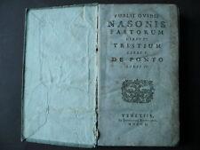 Publio Ovidio Nasone Fastorum Tristium De Ponto Classici Latini Venetiis 1800