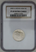 US 2005 S NGC PF 69 ULTRA CAMEO OCEAN VIEW JEFFERSON NICKEL 5c  Coin