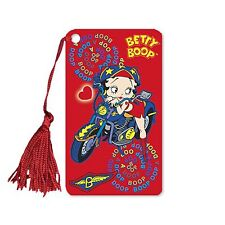 "Lenticular Betty Boop Red Motorcycle 2x4"" Bookmark Book Mark Tassel #BB-205-BM#"