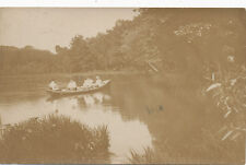 Oxford PA * Girls in Canoe on Lake 1908 RPPC * Chester Co.