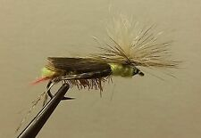 1 Dozen - Paracute Dave's Hopper Yellow -  Dry Fly - Trout