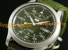 SEIKO 5 SNK805 SNK805K2 Military Army Automatic Nylon Original Box !