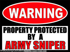 Army Sniper Funny Warning Sign Bumper Sticker Decal Dz Ws258