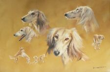 Wonderful Donald Grant Saluki Painting Great Investment
