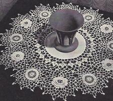 Vintage Crochet PATTERN Irish Rose Doily Runner Thistle Shamrock ValentineSet