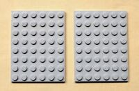 x2 NEW Lego Gray Plates 6x8 Baseplates Brick Building Base Plates BLUISH GRAY