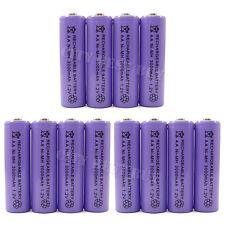 12x AA 3000mAH Rechargeable Battery Ni-MH Purple 1.2V