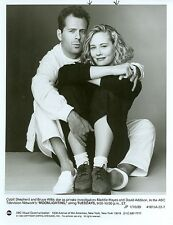 CYBILL SHEPHERD BRUCE WILLIS PORTRAIT MOONLIGHTING ORIGINAL 1989 ABC TV PHOTO