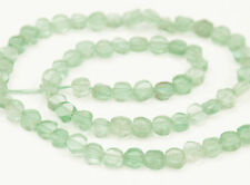 HALF STRAND GREEN AMETHYST SMOOTH SHINY COIN / DISC BEADS, 5 MM