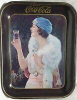 """Coca Cola - 1973 - Vintage/Original """"Party Girl Flapper Serving Tray"""""""