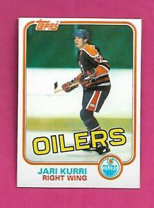 1981-82 TOPPS # 18 OILERS JARI KURRI ROOKIE  NRMT-MT CARD (INV# D4966)