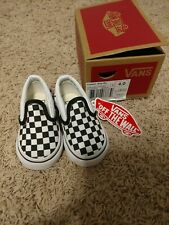 Vans Shoes Sneakers Child Toddler Checker Black And White Brand New