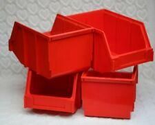 INTERBIN RED  X4 GARAGE/WORKSHOP HOME STORAGE BINS