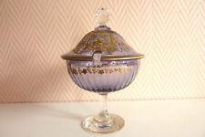 Confiturier cristal fin XIXème début XXème.