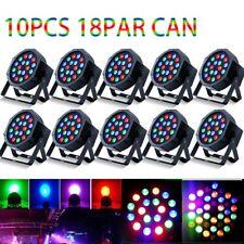 10Pcs 54W Led Par Stage Lighting Dj Rgb Lights Par64 Birthday Party Light Dmx