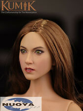 "1/6 Scale Female Head Sculpt KUMIK 16-16 F/ 12"" Hot Sideshow Toys TTL HT Body"