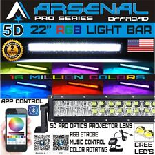 5D 22 inch Pro Series RGB CREE LED Light Bar MultiColor Offroad Truck SUV SxS