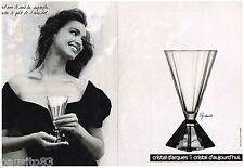 PUBLICITE ADVERTISING 095  1988  CRISTAL D'ARQUES   verre PYRAMIDE ( 2p)