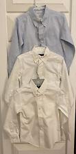 Boys Size 6 Dress Shirts, 2 White Brooks Bros., 1 Blue Talbots Pre-owned Uniform