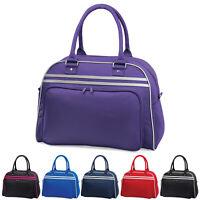BagBase Plain Retro Bowling Bag Travel Overnight Weekend Luggage Gym Work Sports