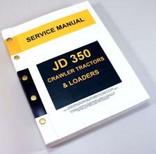 John deere heavy equipment manuals books for bulldozer ebay service manual for john deere 350 jd350 crawler tractor dozer loader technical fandeluxe Images