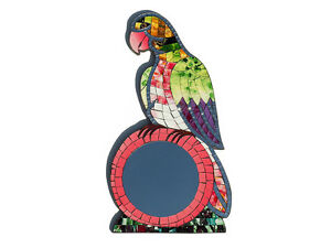 Fair Trade Hand Crafted Mosaic Parrot Shaped Mirror